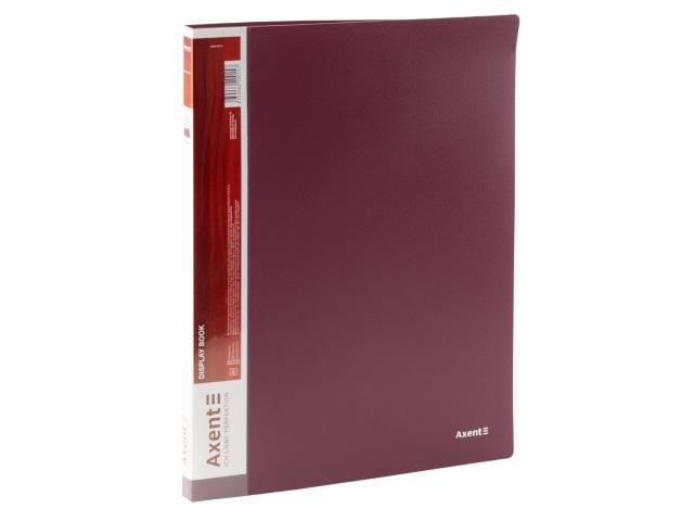 Папка с файлами  20ф А4 Axent 0.8мм бордовая 1020-04-A