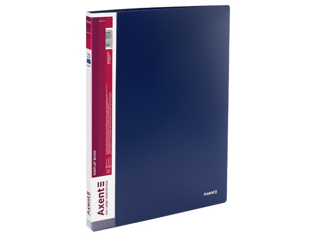 Папка с файлами  20ф А4 Axent 0.8мм синяя 1020-02-A