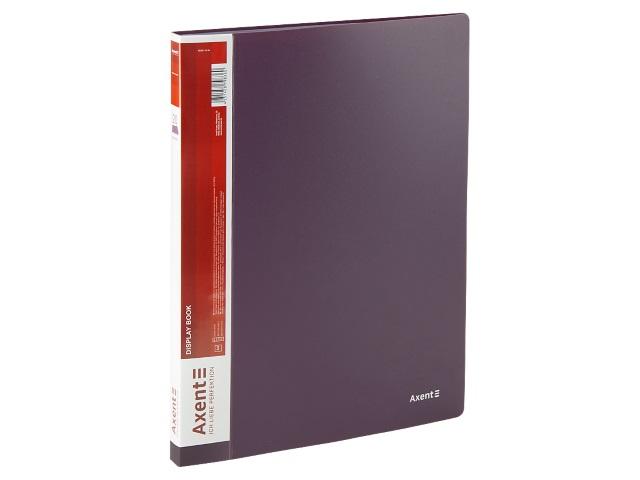 Папка с файлами  20ф А4 Axent 0.8мм сливовая 1020-11-A