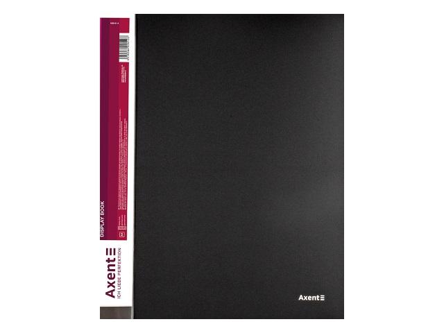 Папка с файлами  20ф А4 Axent 0.8мм черная 1020-01-A