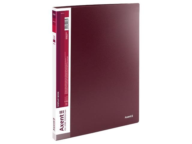 Папка с файлами  30ф А4 Axent 0.8мм бордовая 1030-04-A