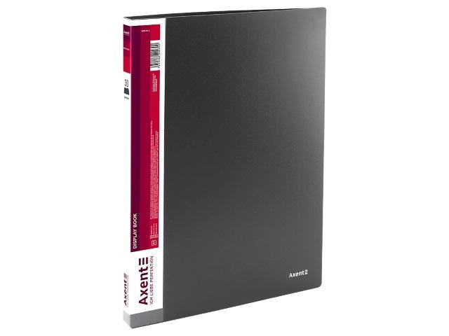 Папка с файлами  30ф А4 Axent 0.8мм серая 1030-03-A