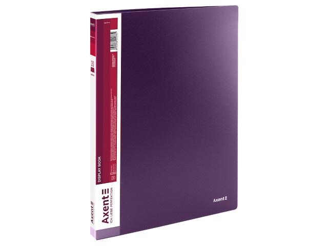 Папка с файлами  30ф А4 Axent 0.8мм сливовая 1030-11-A