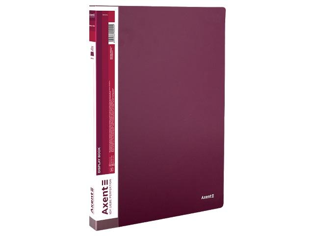 Папка с файлами  40ф А4 Axent 0.8мм бордовая 1040-04-A
