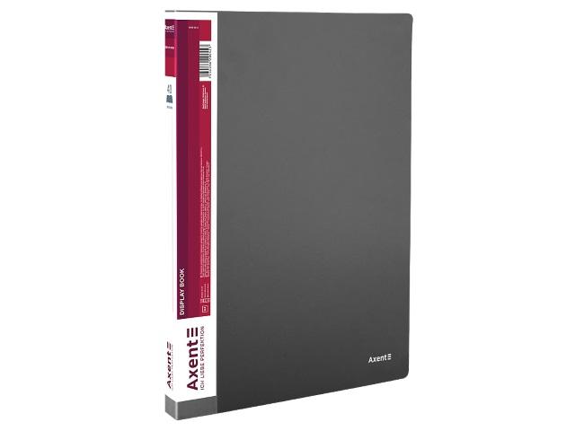 Папка с файлами  40ф А4 Axent 0.8мм серая 1040-03-A