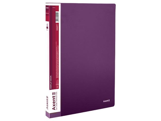 Папка с файлами  40ф А4 Axent 0.8мм сливовая 1040-11-A