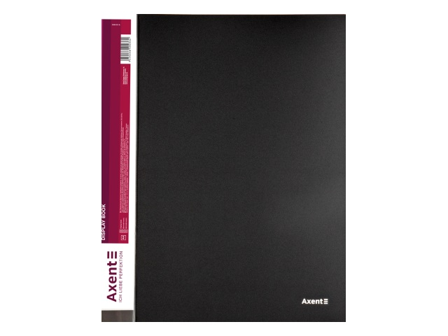 Папка с файлами  40ф А4 Axent 0.8мм черная 1040-01-A
