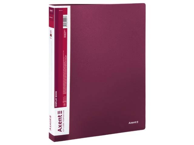 Папка с файлами  60ф А4 Axent 0.8мм бордовая 1060-04-A