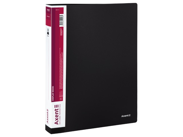 Папка с файлами  60ф А4 Axent 0.8мм черная 1060-01-A