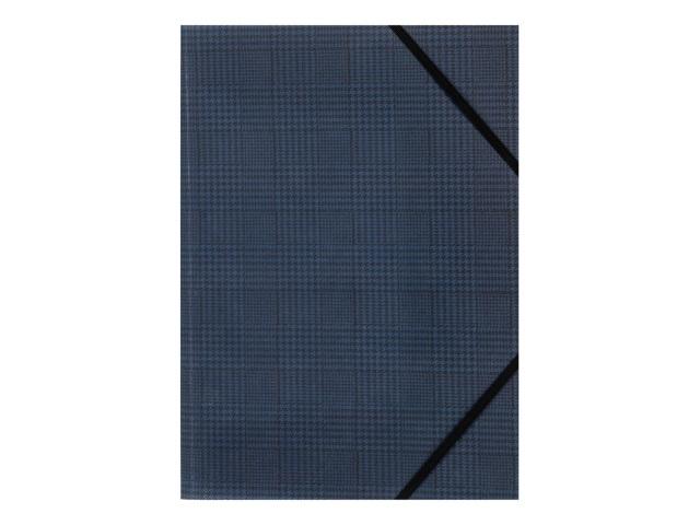 Папка на резинке А4 Axent Tartan синяя 1509-19-A