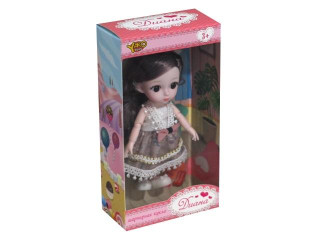 Кукла шарнирная Диана 15см в нарядном платье YakoToys М0574-2