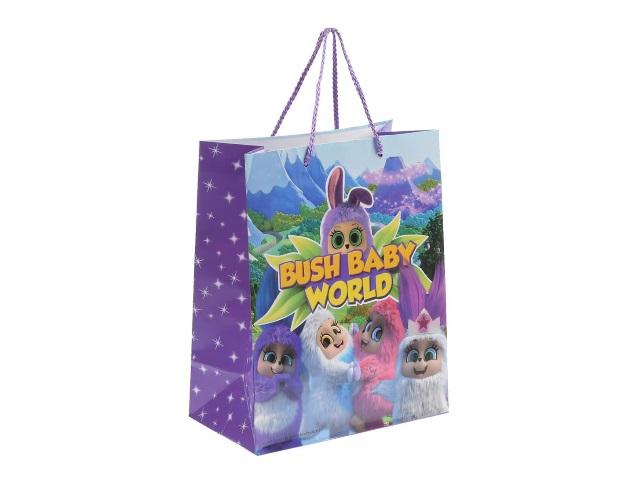 Пакет подарочный бумажный 26*32*14см Shantou Пушистики CLRBG-BBW-02