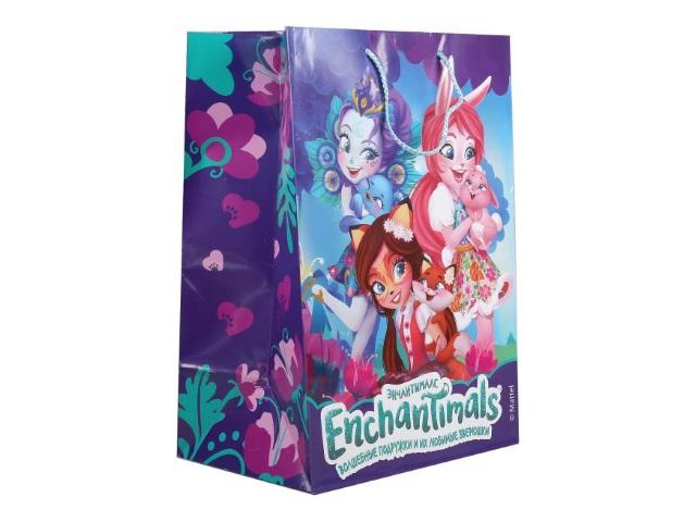 Пакет подарочный бумажный 33*46*20см Shantou Enchantimals CLRBG-ENCH-03-1