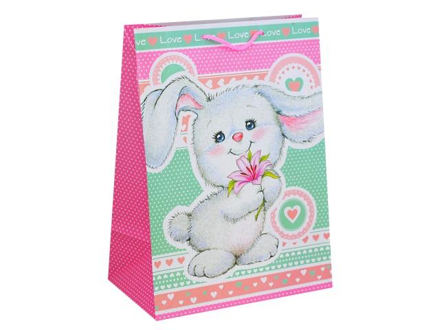 Пакет подарочный бумажный 33*46*20см Shantou Зайка CLRBG-ZAI2-03