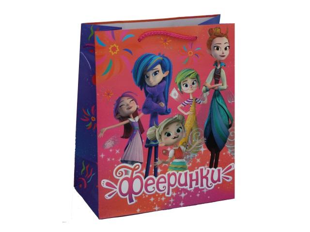 Пакет подарочный бумажный 26*32*14см Shantou Фееринки CLRBG-FAIRY2-02