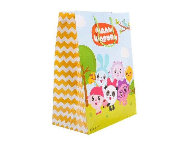Пакет подарочный бумажный 26*32*14см Shantou Малышарики CLRBG-MLSH-02-1