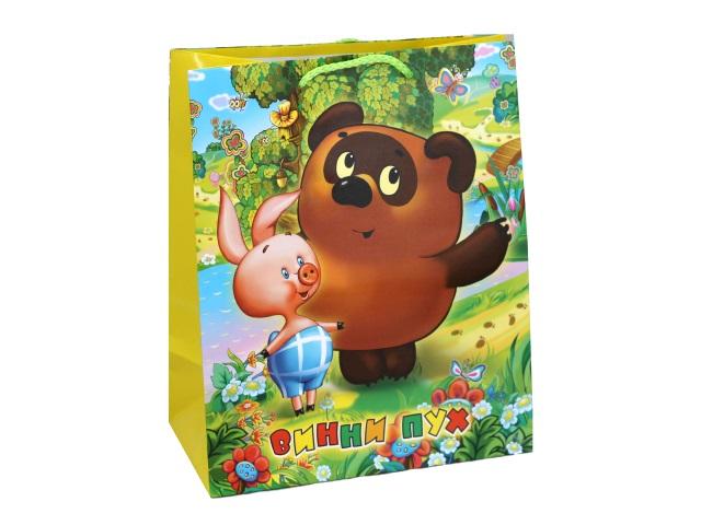 Пакет подарочный бумажный 33*46*20см Shantou Винни-Пух CLRBG-WP-03