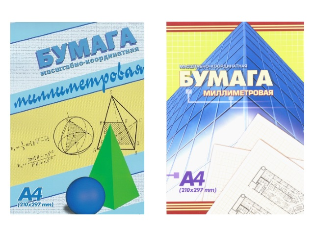 Бумага миллиметровая А4 24л 210*295 мм АХ Шар с пирамидой 7310 7311