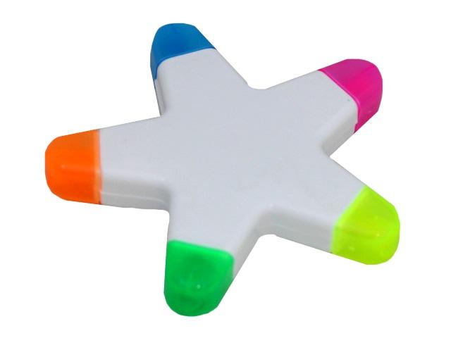 Маркер текстовый 5в1 Mazari Star скошенные 1-3мм М-4591