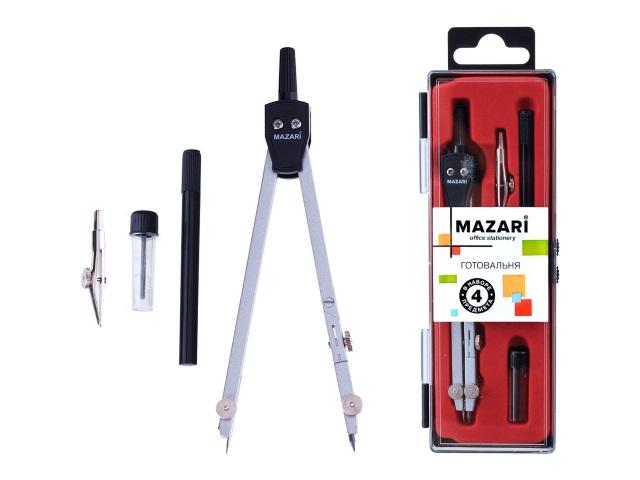 Готовальня  4 предмета Mazari M-4504