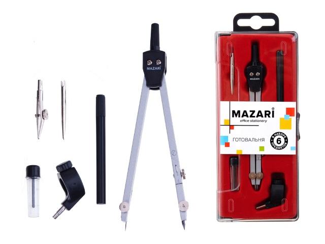 Готовальня  6 предметов Mazari M-4506