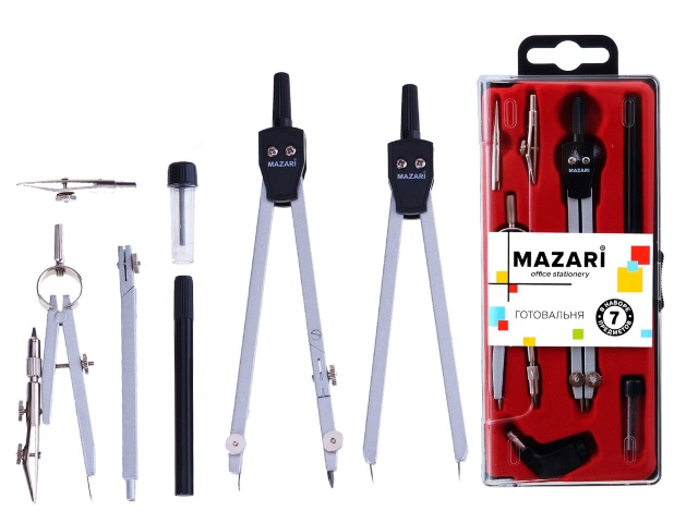 Готовальня  7 предметов Mazari M-4507