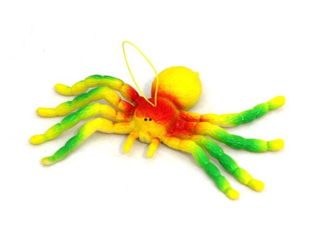Паук 15см с подвесом цветной T191