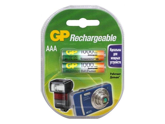 Батарейки аккумуляторные 2 шт. GP HR03 AAA 1000 mAh BL-2