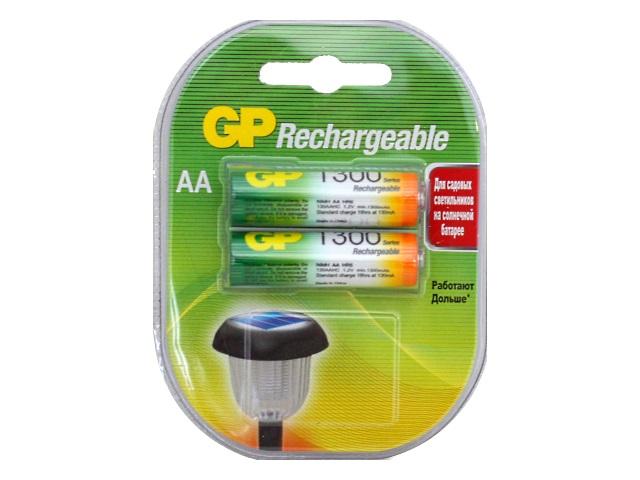 Батарейки аккумуляторные 2 шт. GP HR6 AA 1300 mAh BL-2