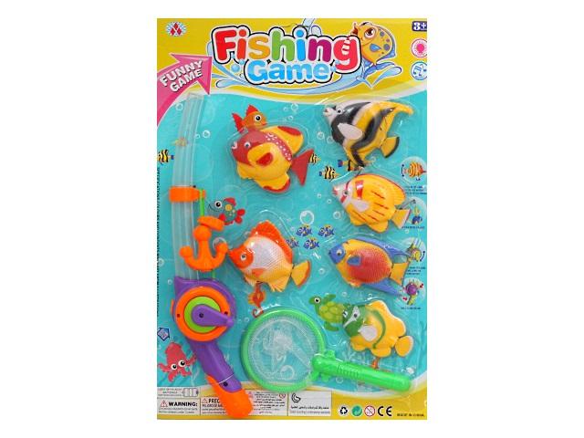 Рыбалка  6 рыбок удочка сачок Время рыбалки Рыжий кот 1830657