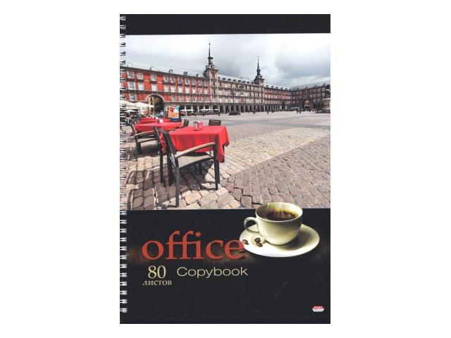 Тетрадь А4  80л Prof Press спираль тв/обложка Офис и кофе 80-8098