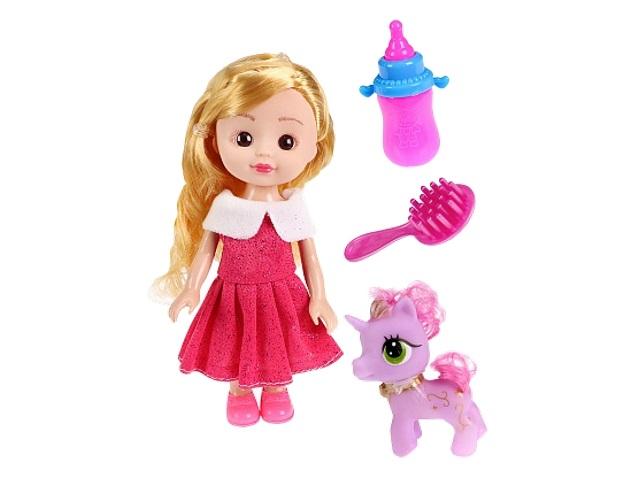 Кукла 15см с пони Рыжий кот 1961648
