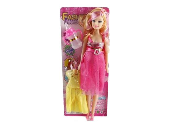 Кукла Беременная 28см Модная мама Рыжий кот 1518925