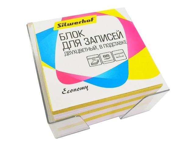 Блок бумажный цветной  90*90 мм 450л Silwerhof 701035