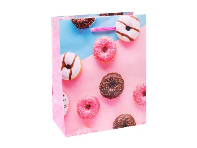 Пакет подарочный бумажный 11.5*14.5*6см Miland Глазированные пончики ПКП-6309