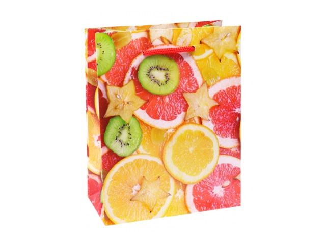 Пакет подарочный бумажный 11.5*14.5*6см Miland Экзотические фрукты ПКП-6310