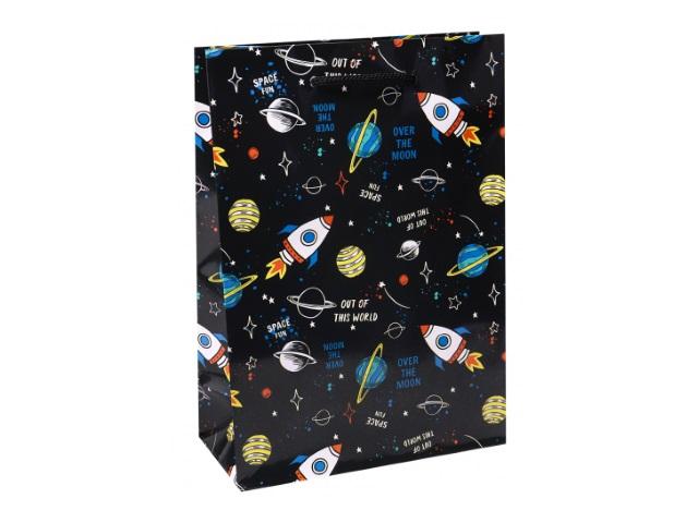 Пакет подарочный бумажный 22*31*10см Miland Далекий космос ПКП-3568