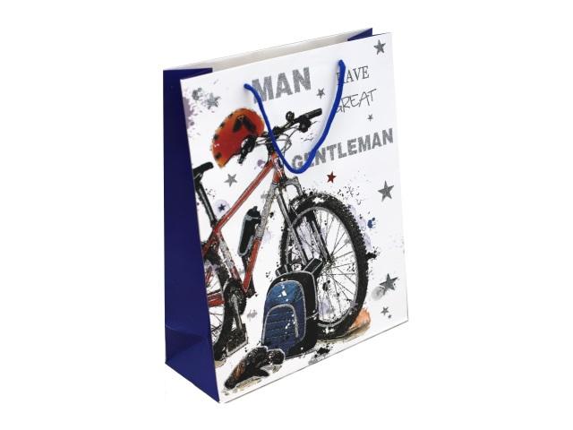 Пакет подарочный бумажный 32*26*12см Miland Прогулка ПП-0209