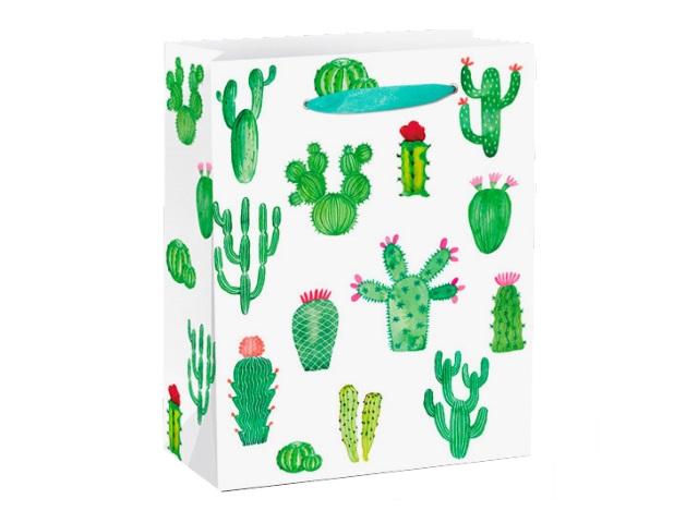 Пакет подарочный бумажный 26.4*32.7*13.6см Miland Красивые кактусы ППД-9651