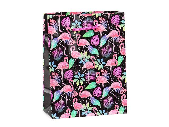 Пакет подарочный бумажный 40*47*14см Miland Яркие фламинго ПП-4769