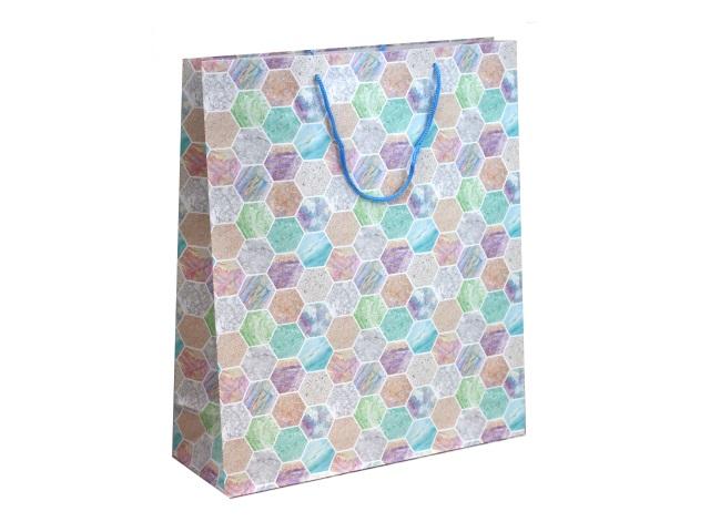 Пакет подарочный бумажный 40*47*14см Miland Пастельный узор ПП-9156