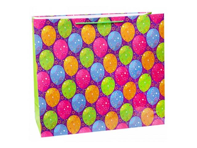 Пакет подарочный бумажный 42*45*21см Miland Яркие воздушные шарики ПКП-6768