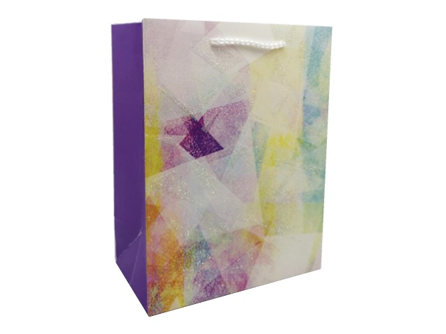Пакет подарочный бумажный 26.4*32.7*13.6см Miland Яркая абстракция ППД-9614