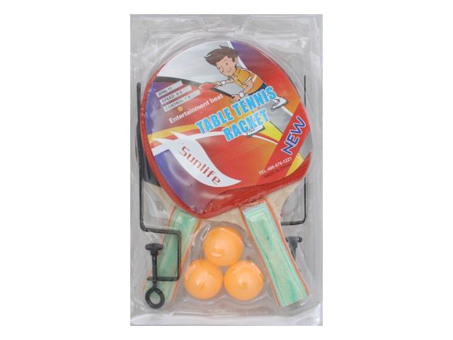 Теннисный набор 2 ракетки 3 шарика сетка AN01014