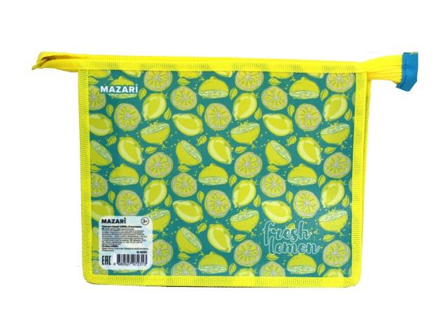 Папка для тетрадей А5 на молнии Mazari Lemon M-16083
