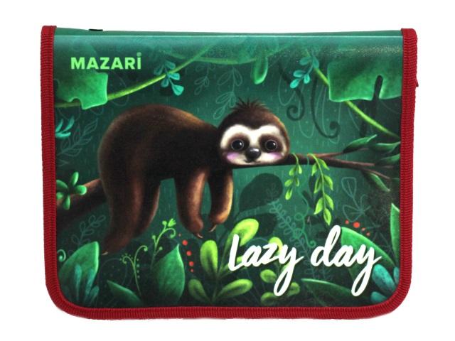 Папка для тетрадей А5 на молнии Mazari Lazy Day M-16086