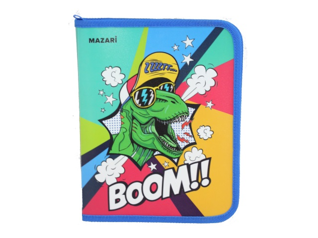 Папка для тетрадей А5 на молнии Mazari Boom M-16087