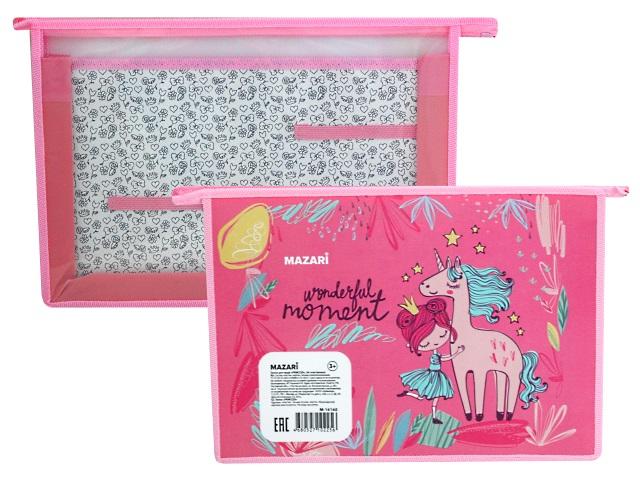 Папка для труда А4 пластик Mazari Princess M-16160