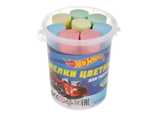 Мел для асфальта 4 цв 8 шт. МультиАрт Hot Wheels MELBUCKET8-HW