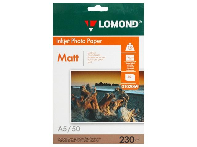 Фотобумага А5 Lomond матовая 230 г/м2 50л 0102069